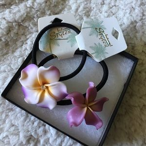 Other - 2 Hawaiian flower hair elastics